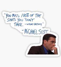 Pensive Michael  Sticker