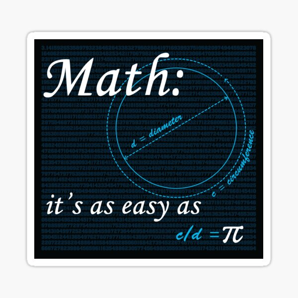 Easy as Pi Sticker