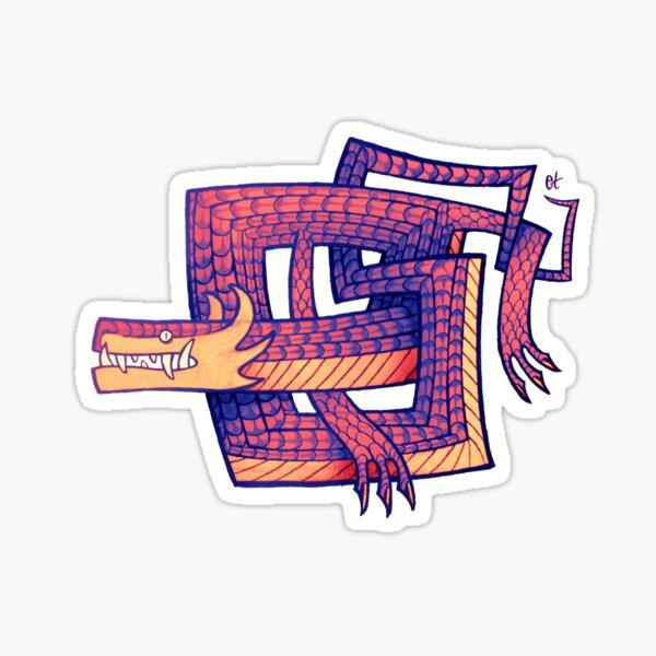 Serpiente cuadrada Pegatina