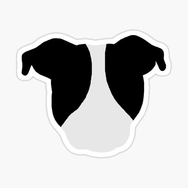Black and White Pittie Sticker