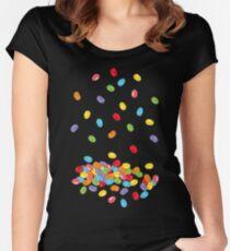 Ostern Jelly Beans Bonbons Süßigkeiten Osterfest Tailliertes Rundhals-Shirt