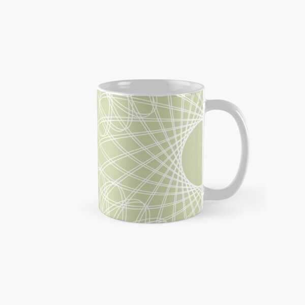 mathematical rotating roses - powder green Classic Mug