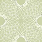 mathematical rotating roses - powder green by VrijFormaat