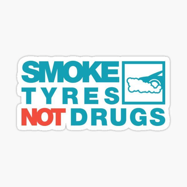 NEUMÁTICOS DE HUMO NO DROGAS (2) Pegatina