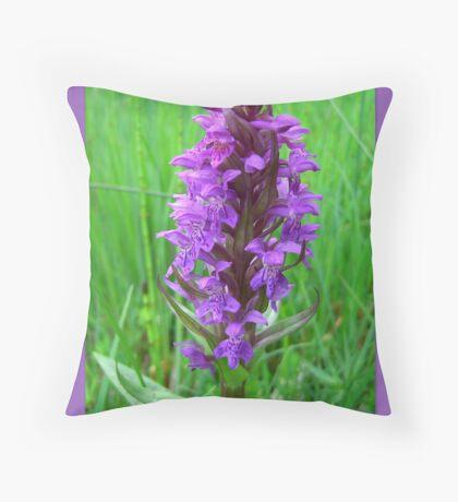 Dactylorhiza maculata Throw Pillow