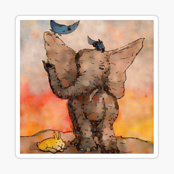 Elephant and Friends - Digital Remix Sticker