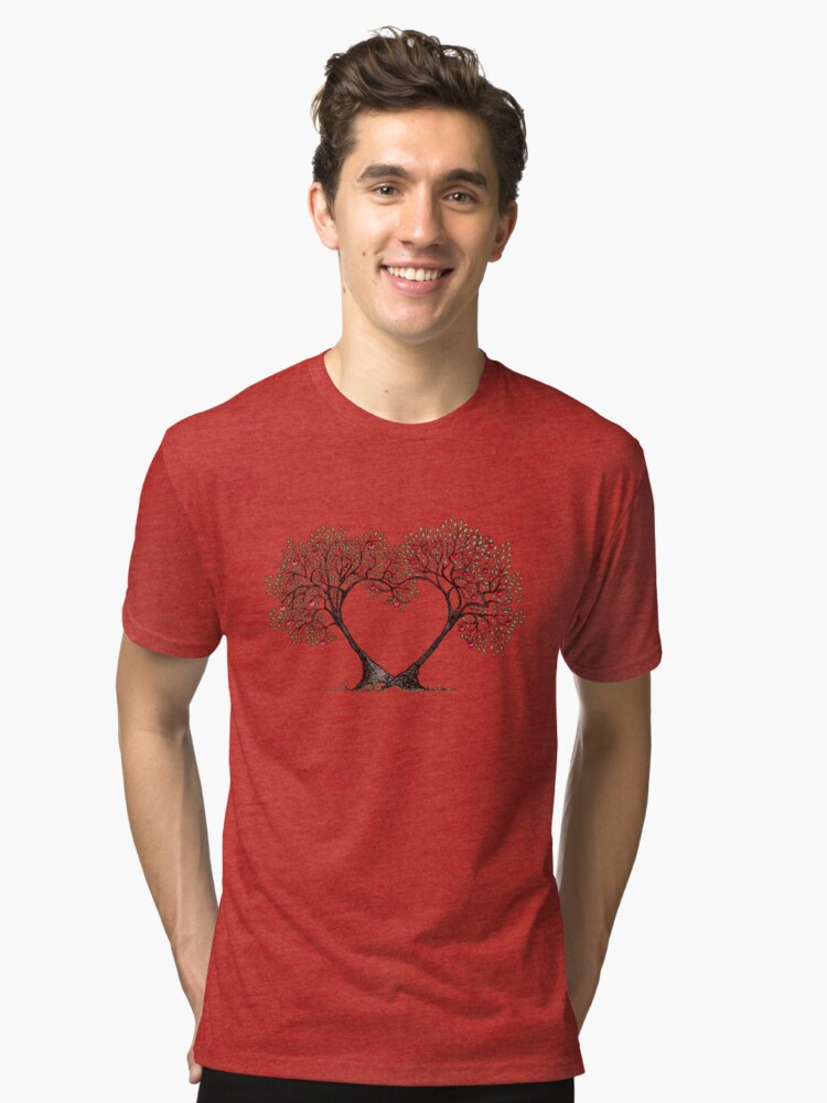 love trees Tri-blend T-Shirt Front