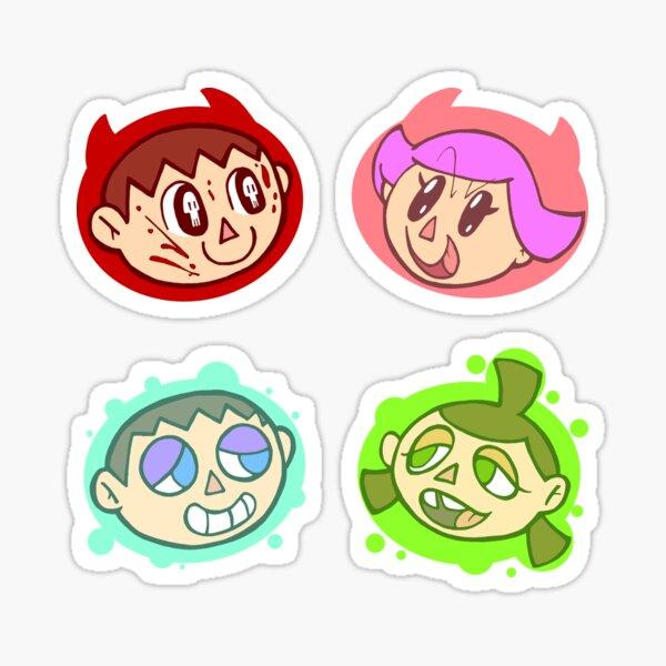 4 Headed Villager Sticker