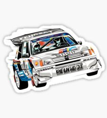 Group Rally Peugeot Sticker