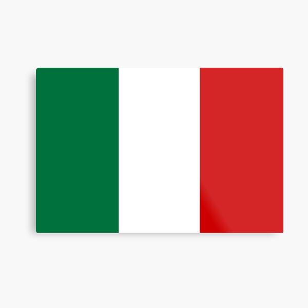 Italian Flag , Italy, Italian Flag sticker, Italy national flag, Italian Football Flag  Metal Print