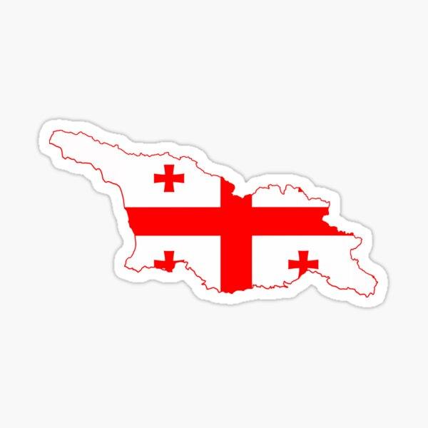 Georgia Flag Map Sticker