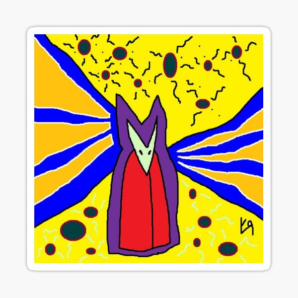 """""""Master of the Astral Plane"""" by Richard F. Yates Sticker"""