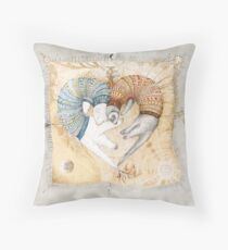 Ferret heart Throw Pillow