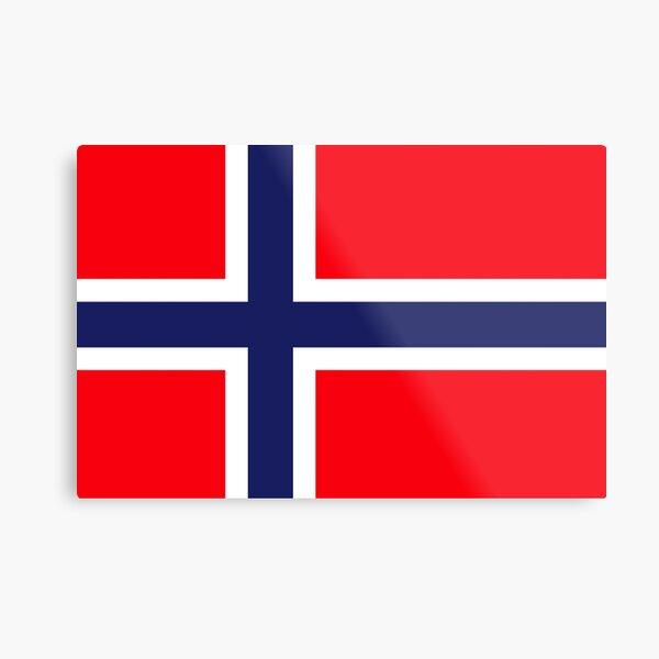 Norway Flag , Italy, Norway Flag sticker, Norway national flag, Norway Football Flag  Metal Print
