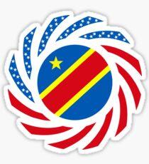 Congolese American (Democratic Republic) Multinational Patriot Flag Series Sticker