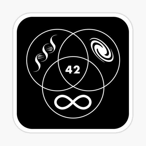 Hitchhikers Guide To The Galaxy 42 Sticker