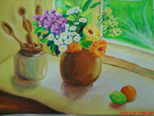 sun shine on flowers by tienjessie