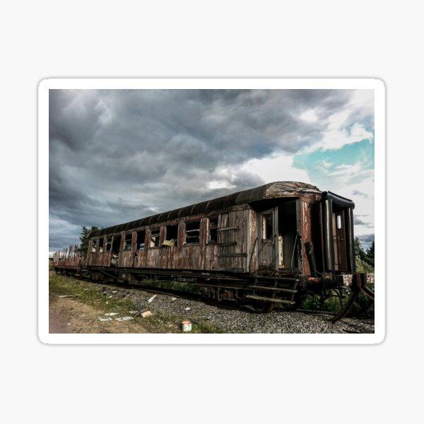 Abandoned Passenger Wagon Sticker