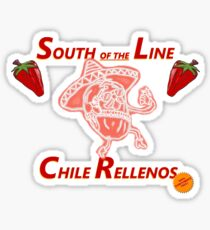 South of the Line Sticker
