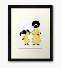 Look who's coming... Framed Print