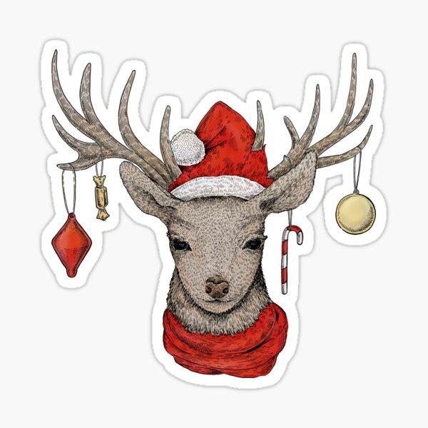 Christmas Deer Sticker
