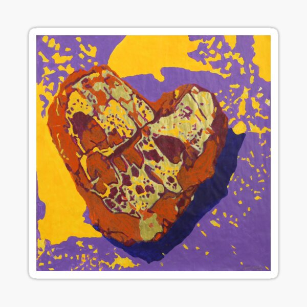 Kintsugi Golden Heart Sticker