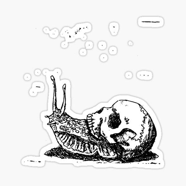 Skull Snail Sticker