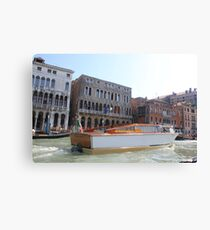 boat on venise river Canvas Print