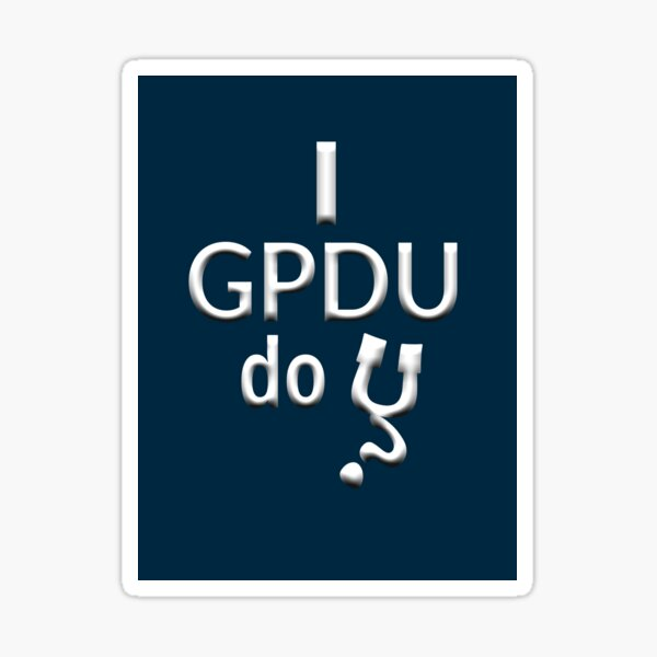 GPDU stickers Sticker