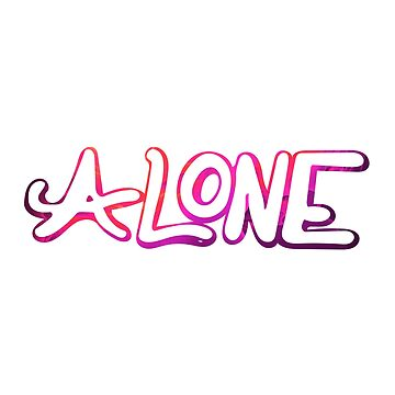 Alone Typography by warddt