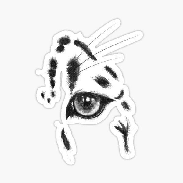 Snow Leopard Eye Sticker