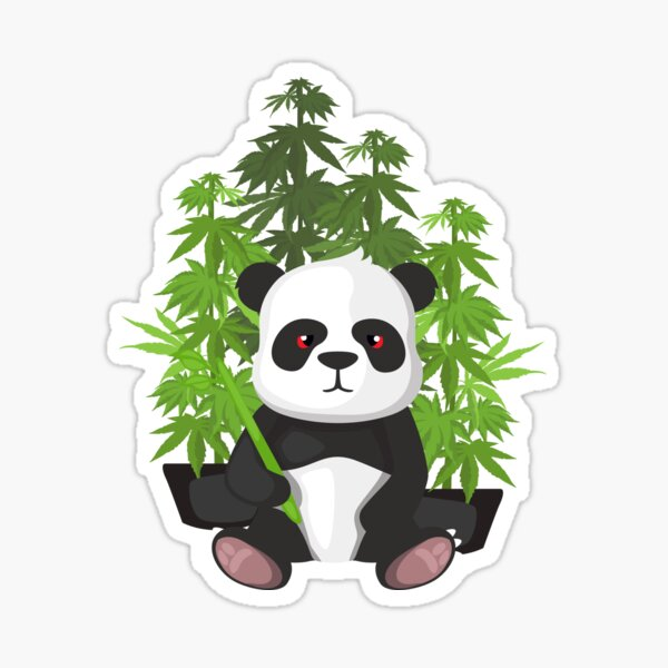 High panda Sticker