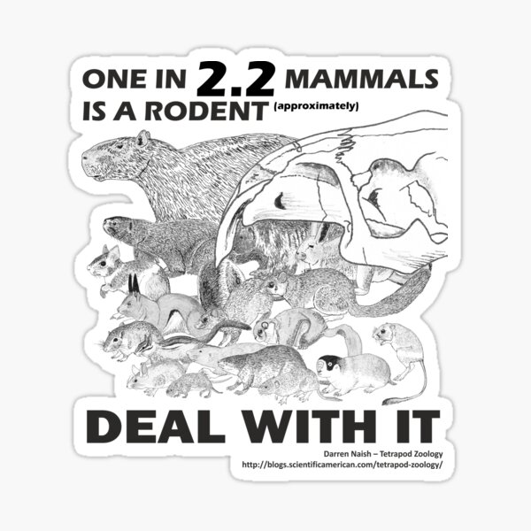 There are a lot of rodents Sticker