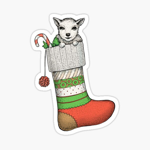 Christmas goat Sticker