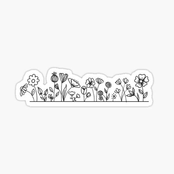 Flower strip Sticker