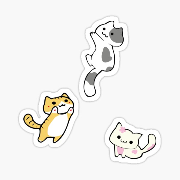 Mini Neko's (kittens) Sticker
