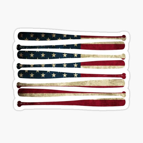 America baseball flag Sticker