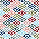 Multicolored Diamond Shapes Granny Pattern v1 by taiche
