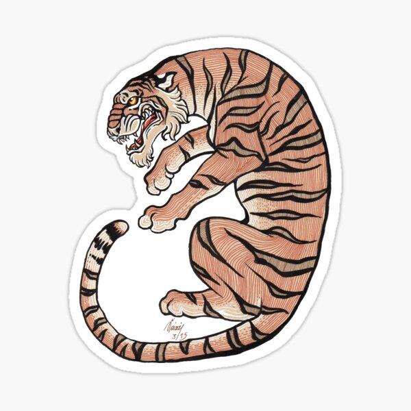 Asiatischer Tiger Nr. 2 Sticker