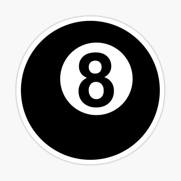 D10 RARE NEW TATTOO STYLE Decal SKULL 8 BALL STICKER
