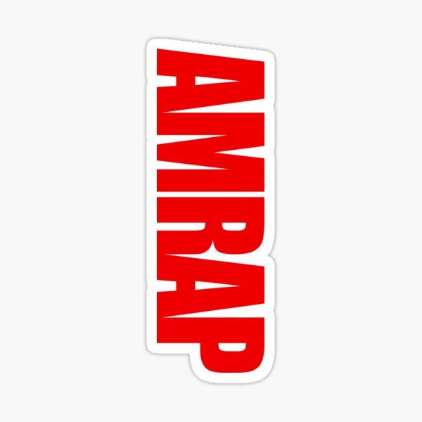 AMRAP Pegatina