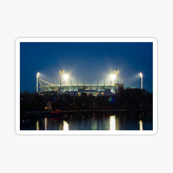 Melbourne Cricket Ground at dusk Sticker