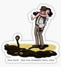They Can Probably Smell Fear Sticker