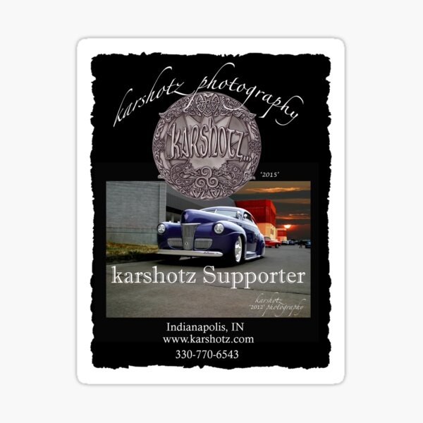 Supporter of Karshotz Photography Sticker