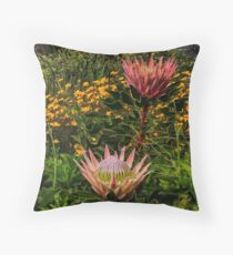 South African flowers Throw Pillow