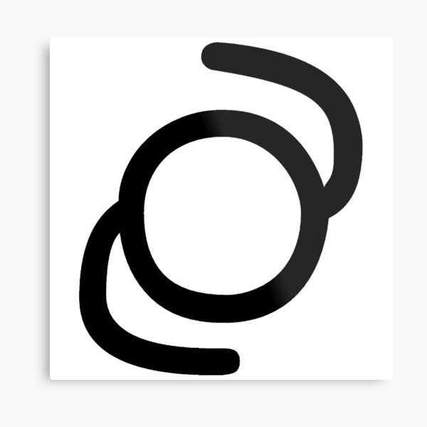 "Unicode Character ""࿂"" (U+0FC2) ࿂ Name:Tibetan Cantillation Sign Cang Te-U Metal Print"