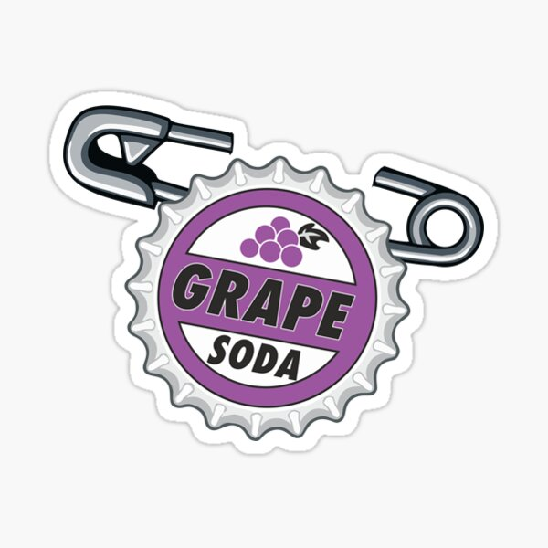 Grape Soda Badge Sticker