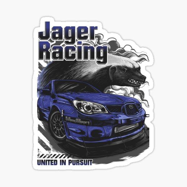 Jager Raging Fierce Badger Sticker