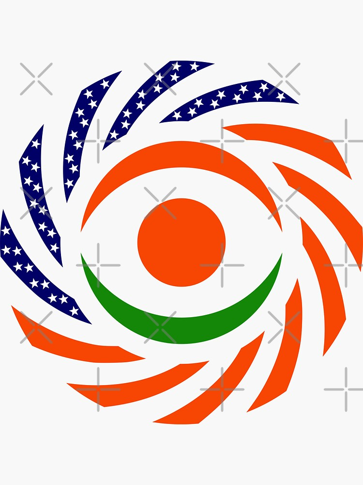Niger American Multinational Patriot Flag Series by carbonfibreme