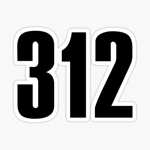312 Chicago | Phone Area Code Shirts Sticker